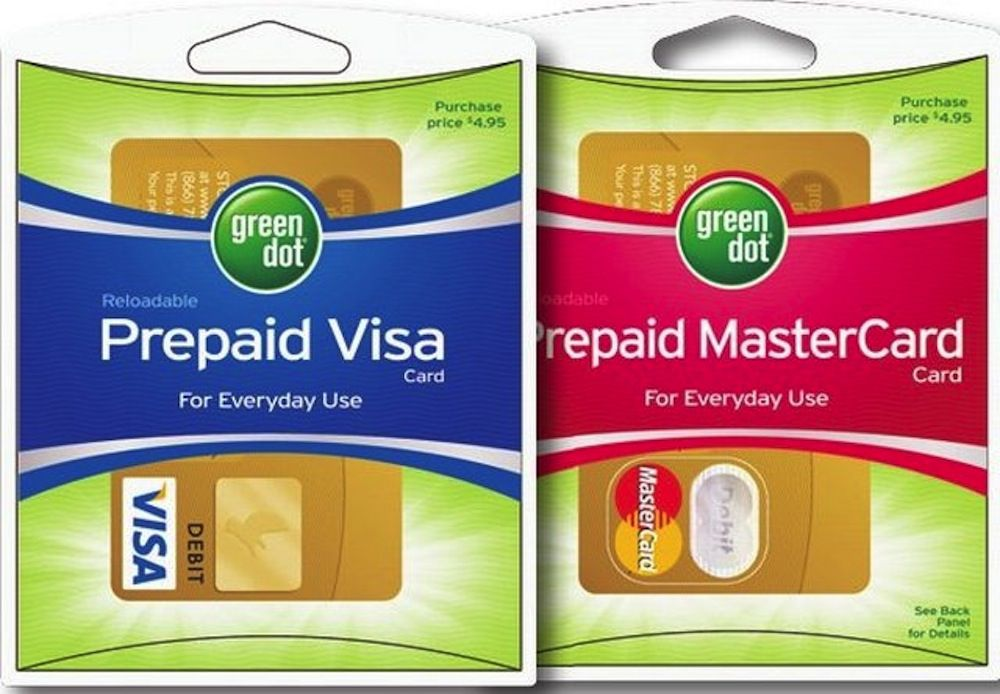five best low fee prepaid cards - Green Dot Visa Debit Card