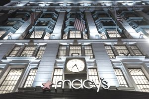 Macy's sign and storefront