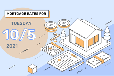 mortgage rates for Tuesday 10/5 2021