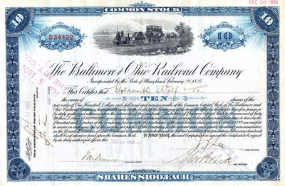 selling a share certificate