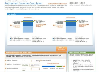retirement calculator reviews