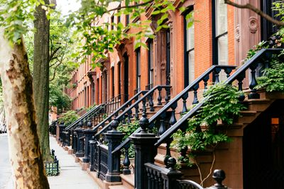 Brownstone houses in Greenwich Village, New York City