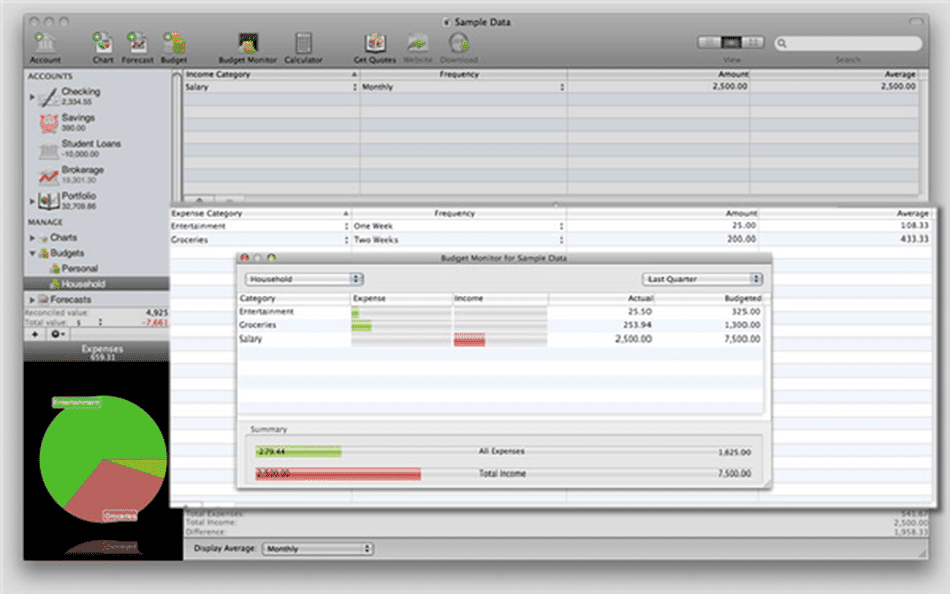 iBank Personal Finance Software for Mac OS