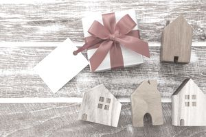 Gift box and houses