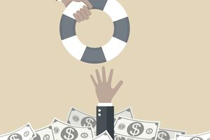 Life Ring Extended to Man Drowning in Bills