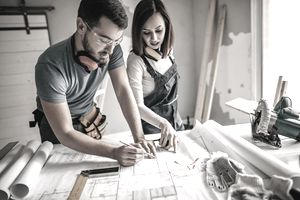 Two architects renovating an apartment