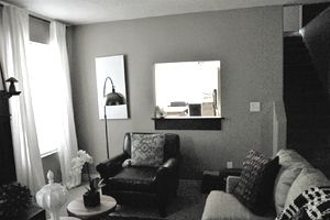 Dark and Dreary Living Room Before Makeover