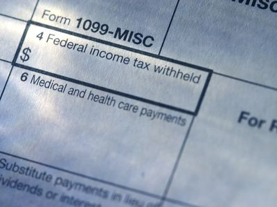 Close up of a blank 1099-MISC form.