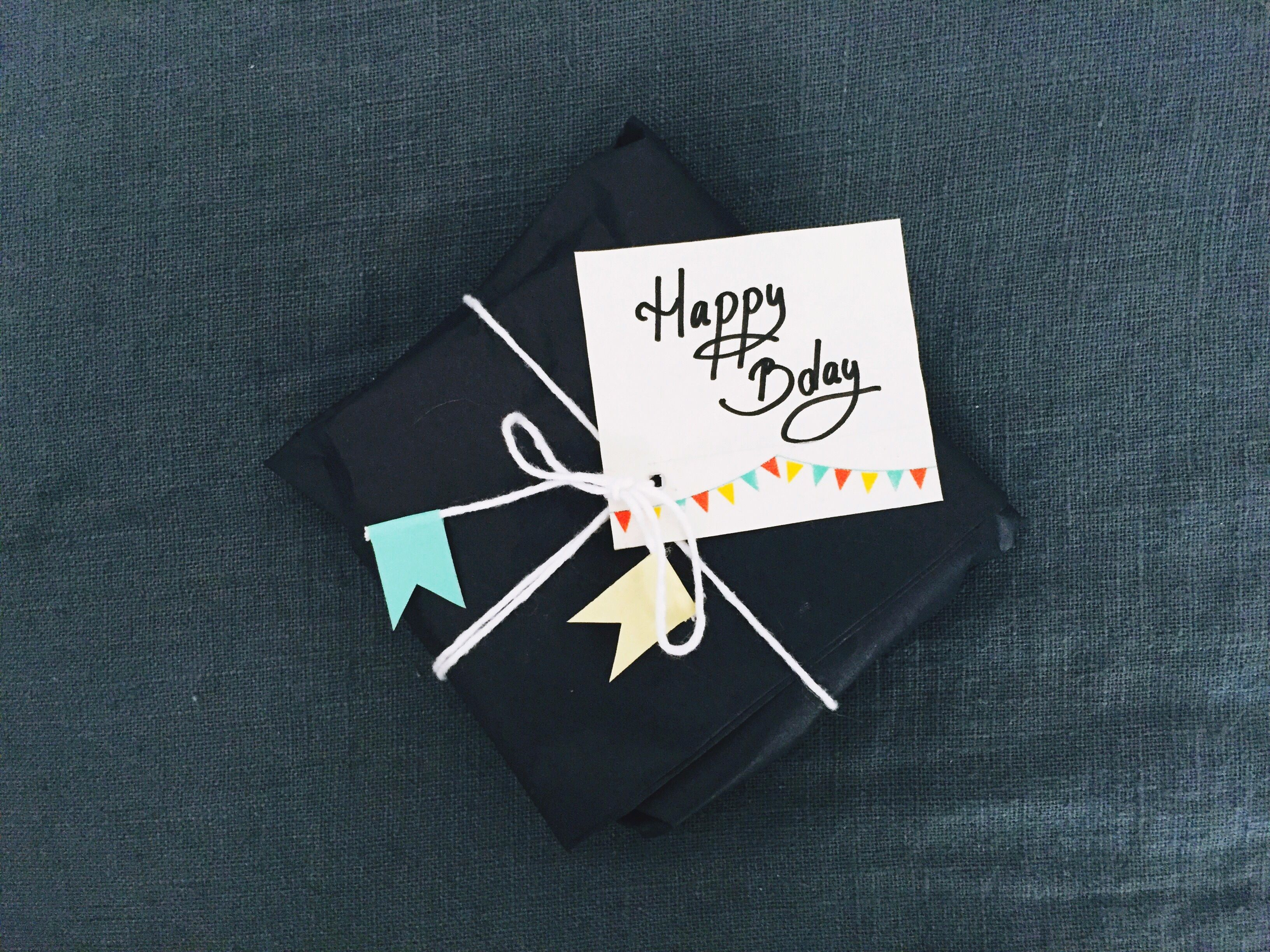 Gift with a Happy Birthday tag