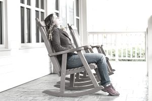 Young Woman on a Rocking Chair