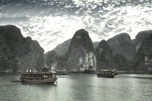 Vietnam boats and landscape