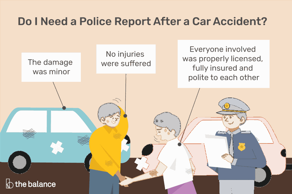 do I need a police report after a car report? the damage was minor, no injuries were suffered, and everyone involved was properly licensed, fully insured and polite to each other