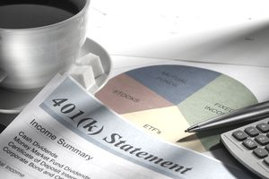 Retirement Account Statement And Pie Chart
