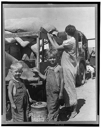 Okies on the road during the depression.