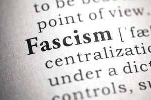 Dictionary, Dictionary definition of the word fascism.