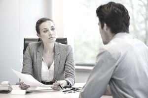 A hiring manager works her way through interview questions.