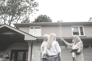 couple looking at a new property to buy