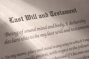 a last will and testament document