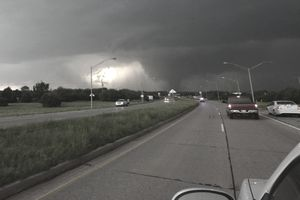 Tornado ahead, Oklahoma city