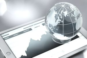 Global investments, conceptual image