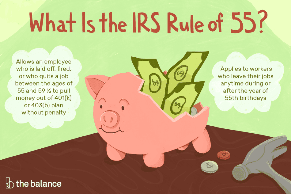 what is the IRS rule of 55?