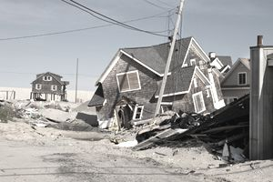 HurricaneA damaged home in Ortley Beach, New Jersey, caused by Hurricane Sandy, which made landfall near Brigantine, New Jersey, on October 30, 2012.