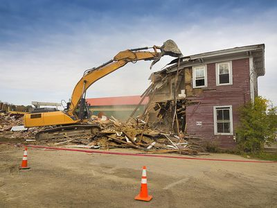 tearing down a house