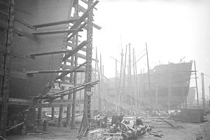 boat yard during world war II