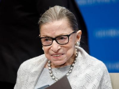 upreme Court Justice Ruth Bader Ginsburg delivers remarks at the Georgetown Law Center on September 12, 2019, in Washington, DC.