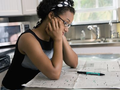 Woman looking for a job anxious and concerned