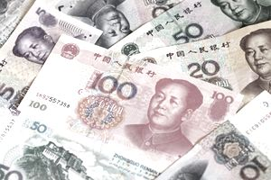 Chinese Currency on a table