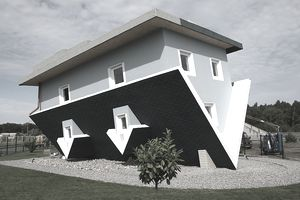 A house built upside down