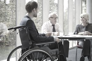 business person in wheelchair