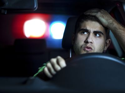 Man being pulled over by the police