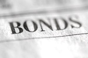 the word, bonds, printed on paper
