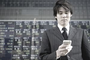 The businessman who confirms the stock prices