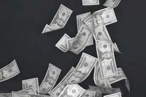 Dollar bills repesenting income from an immediate annuity.