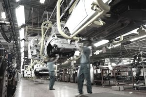 Car factory production line