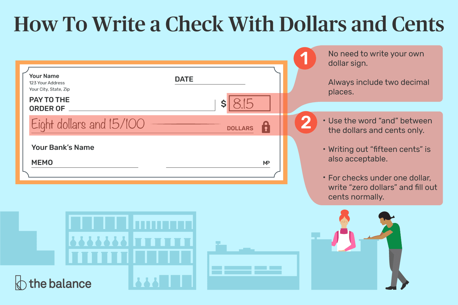 Write Dollars And Cents On A Check