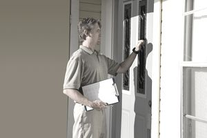 Survey worker door to door