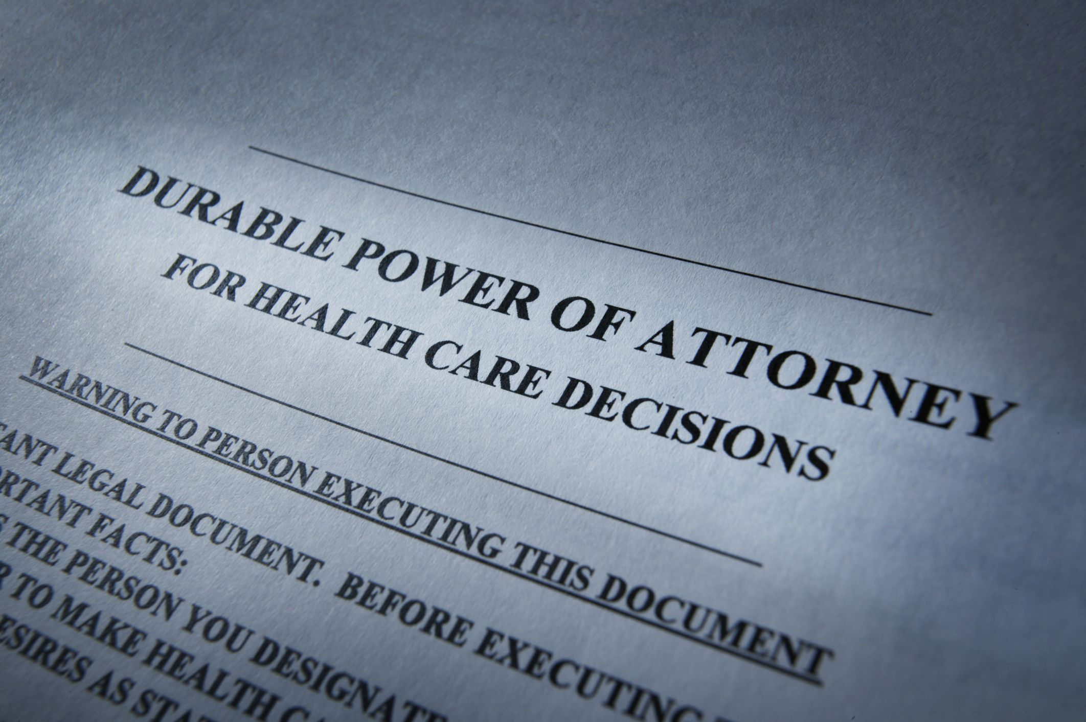 Advance Medical Directives for Health Care Decisions