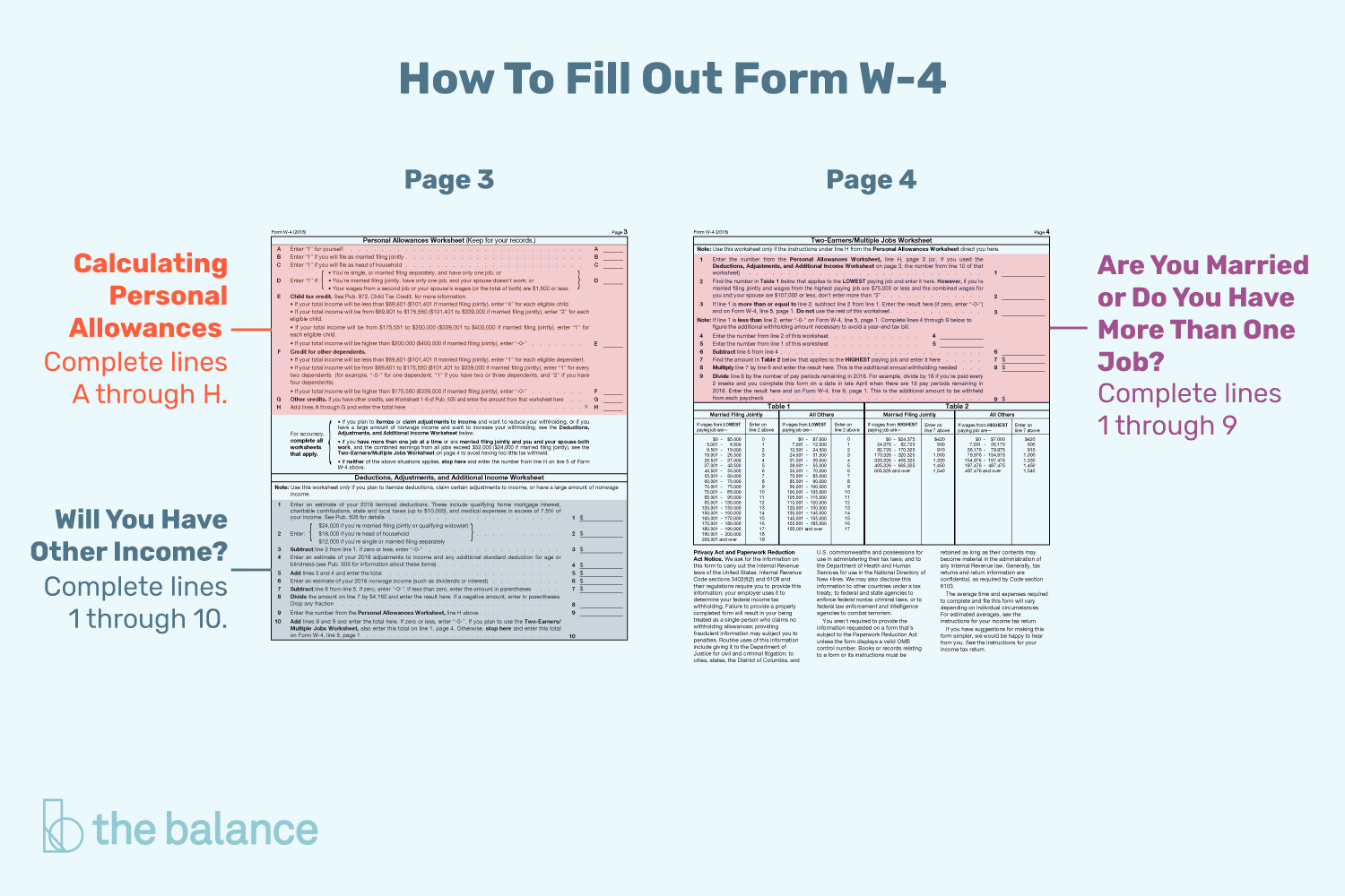 tips for calculating allowances and preparing form w 4 - Deductions And Adjustments Worksheet