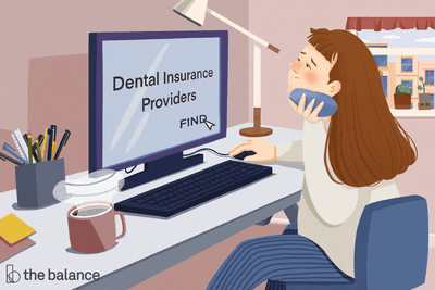 Image shows a woman sitting at her computer holding an ice pack to her jaw. On the screen reads: