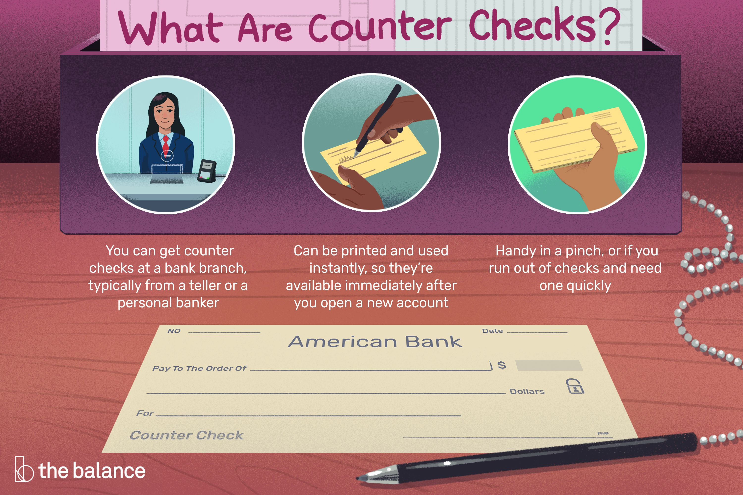 How Counter Checks Work: Checks From Your Branch