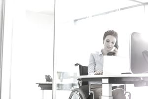 A disabled employee at work