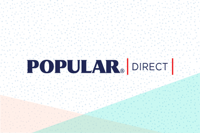 Popular Direct logo on graphic background