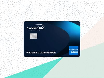 Credit One Bank American Express card image with background