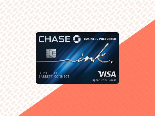 Chase Ink Business Preferred card image with background