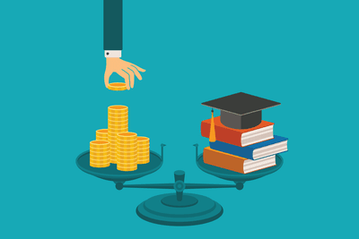 Concept of investing in education
