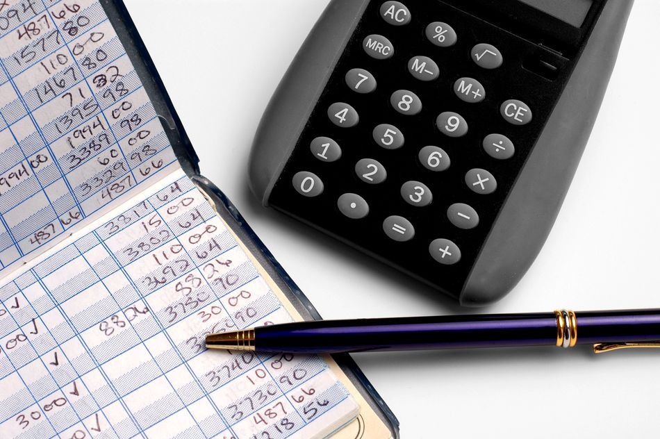 A check ledger helps control your finances.